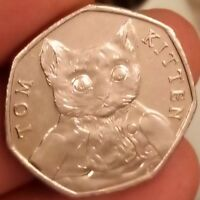 50P TOM KITTEN FIFTY PENCE COIN