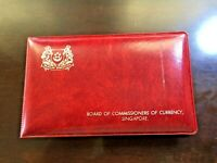 1976 SINGAPORE   OFFICIAL MINT SET  6    YEAR OF DRAGON   ORIGINAL RED WALLET