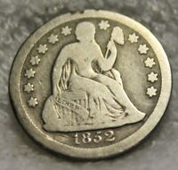 1852 SEATED DIME
