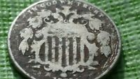 1870 5C SHIELD NICKEL, BETTER  DATE,  OLD US COIN  F385