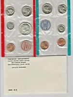 1969 UNCIRCULATED GENUINE U.S. MINT SETS ISSUED BY U.S. MINT 40  SILVER HALF
