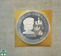 1975 TURKS & CAICOS 20 CROWNS PROOF COIN IN HOLDER   AGE OF