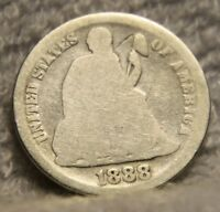 1888S SEATED DIME
