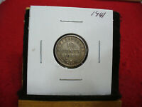 1941  CANADA  SILVER  DIME 1/10  DOLLAR  10 CENT COIN   NEWFOUNDLAND  STERLING
