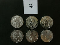 UK QUEEN'S BEASTS 6 2 OZ SILVER COINS LION GRIFFIN DRAGON UNICORN BULL FALCON 7