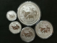 2015 AUSTRALIA SILVER LUNAR YEAR OF THE GOAT   0.5   1   2   5   10 OZ