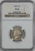 1895 PROOF LIBERTY NICKEL. NGC PF64 BEAUTIFUL COIN