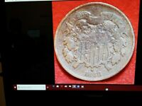 1868 TWO CENT,SHADE BETTER GRADE,1410