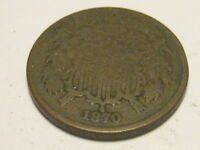 1870 TWO CENT PIECE VG NICKS