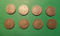 1-1902-03-07-10-11 AND 3-1912 LIBERTY HEAD V NICKELS