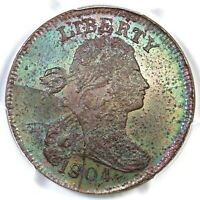 1804 RESTRIKE PCGS MINT STATE 64 BN DRAPED BUST LARGE CENT COIN 1C