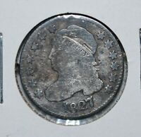 1827 CAPPED BUST SILVER DIME