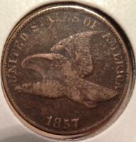 1857 FLYING EAGLE 1C -  OLD CLASSIC U.S. SMALL CENT - SHIPS FREE IMMEDIATELY