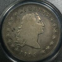 Click now to see the BUY IT NOW Price! 1795 3 LEAVES FLOWING HAIR SILVER DOLLAR PCGS VF 20