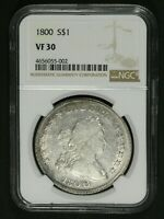 Click now to see the BUY IT NOW Price! 1800 DRAPED BUST SILVER DOLLAR NGC VF 30   BRIGHT
