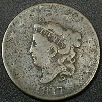 1817 15 STARS CORONET MATRON HEAD COPPER LARGE CENT - ENVIRONMENTAL DAMAGE