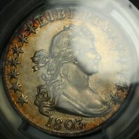 Click now to see the BUY IT NOW Price! 1803 LARGE 3 DRAPED BUST SILVER HALF DOLLAR PCGS AU 55   GORGEOUS