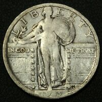 1923 STANDING LIBERTY SILVER QUARTER - CLEANED