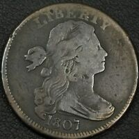 1807 DRAPED BUST COPPER LARGE CENT