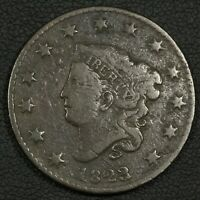 1823/2 CORONET MATRON HEAD COPPER LARGE CENT