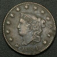 1824 CORONET MATRON HEAD COPPER LARGE CENT - DAMAGE