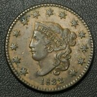 1832 CORONET MATRON HEAD COPPER LARGE CENT