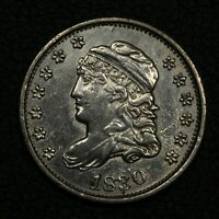 1830 CAPPED BUST SILVER HALF DIME - CLEANED