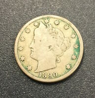 1890 LIBERTY 5C 2121 VG. CAREFULLY CHECK OUT THE PHOTOS.