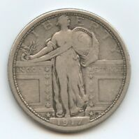 1917-D STANDING LIBERTY 25C TYPE 1 398 VF. CHECK OUT THE PHOTOS.