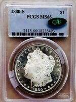 1880 S MORGAN DOLLAR  PCGS MS66 CAC LOOKS PROOF LIKE  FROSTY