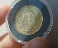 2014 GOLD TDC 9CT DOUBLE CROWN COIN. PRINCE GEORGE BIRTHDAY