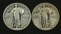 1919 & 1920 STANDING LIBERTY SILVER QUARTERS - TWO COIN LOT