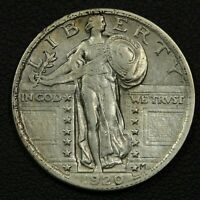 1920 STANDING LIBERTY SILVER QUARTER - CLEANED