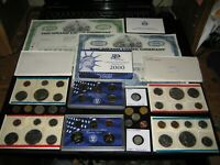 JUNK DRAWER COIN LOT 1974 MINT PROOF SET LOT SILVER IKE DOLL