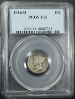 Click now to see the BUY IT NOW Price! 1916 D MERCURY SILVER DIME PCGS F 15