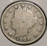 LIBERTY NICKEL - 1902 - $1 UNLIMITED SHIPPING