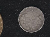 CANADA 5 CENTS 1880 H SILVER