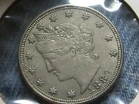 1883 V NICKEL 5C CENT COIN W/O CENTS