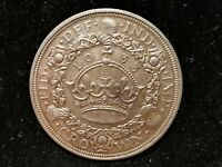 GEORGE V SILVER  .500  WREATH CROWN 1933  EXT RARE  EF M1023