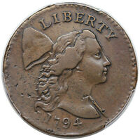 1794 LIBERTY CAP LARGE CENT, HEAD OF 1794, S-24, R1,