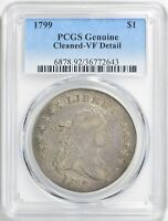 1799 DRAPED BUST DOLLAR PCGS VF DETAILS LIGHTLY CLEANED