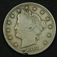 1912 S LIBERTY V NICKEL   RIM DING