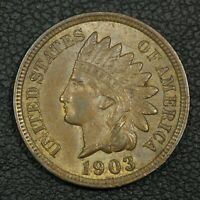 1903 INDIAN HEAD CENT COPPER PENNY
