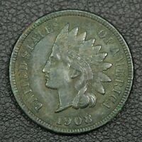 1908 S INDIAN HEAD CENT COPPER PENNY   EXCESSIVE CORROSION
