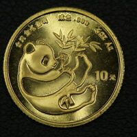 1984 CHINA 10 YUAN 1/10 OZ GOLD PANDA
