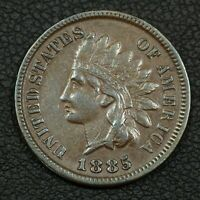 1885 INDIAN HEAD CENT COPPER PENNY   CLEANED