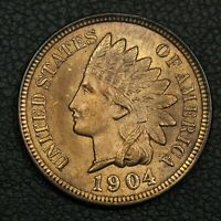 1904 INDIAN HEAD CENT COPPER PENNY