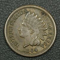 1864 BRONZE INDIAN HEAD CENT COPPER PENNY