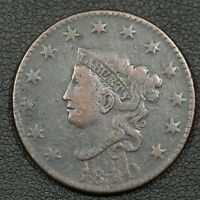 1820 CORONET MATRON HEAD COPPER LARGE CENT   CORROSION