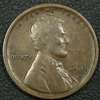 1909 S VDB LINCOLN WHEAT CENT COPPER PENNY